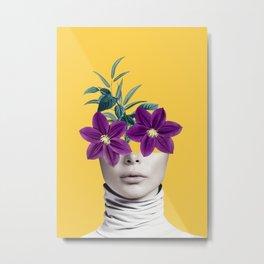 Floral Portrait 2 Metal Print