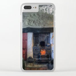 Olde Country Home Clear iPhone Case