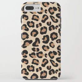 Leopard Print, Black, Brown, Rust and Tan iPhone Case