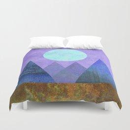 Take Me Away, Mountains, Full Moon Duvet Cover