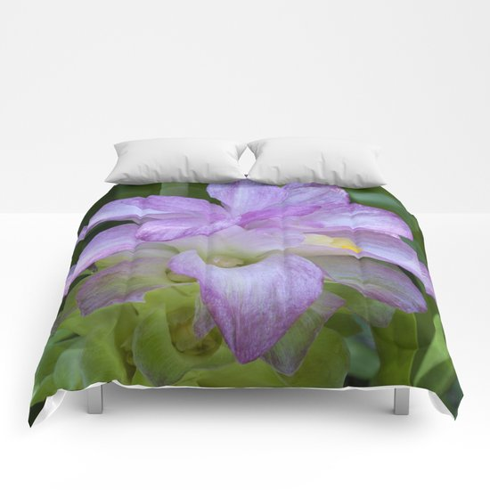 Tropical Pink Flower Comforters