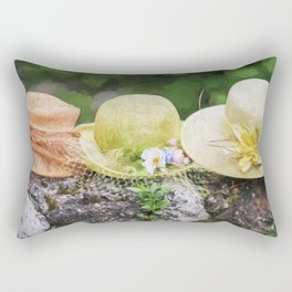 woman's hat Rectangular Pillow