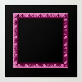 Pink Greek Border Canvas Print