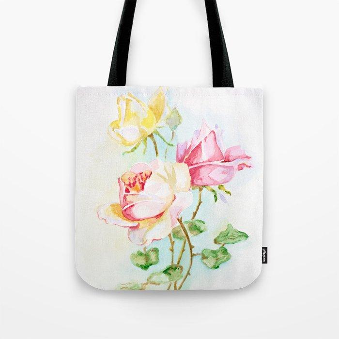 Three roses Tote Bag