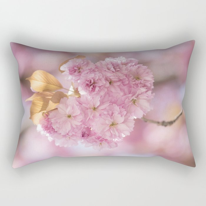 Japanese cherryblossoms in LOVE Rectangular Pillow
