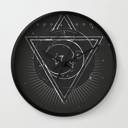 Mysterious moon Wall Clock