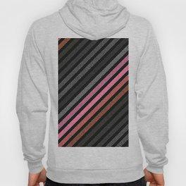 StRiPeS Slate Gray Pink Living Coral Pixels Hoody