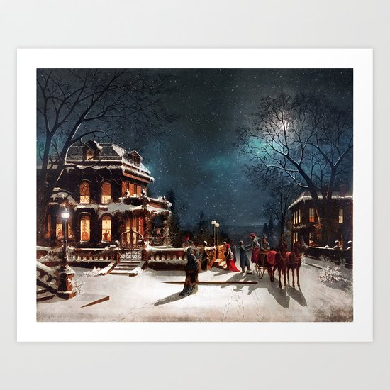 Vintage Christmas Art Print