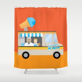 Breaking tradition - Walt and Jesse make ice cream Shower Curtain