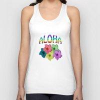 aloha Tank Tops featuring Aloha  by John Minar Fine Art Photography