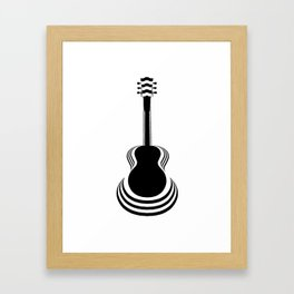 Acoustic Guitar Cutout Framed Art Print
