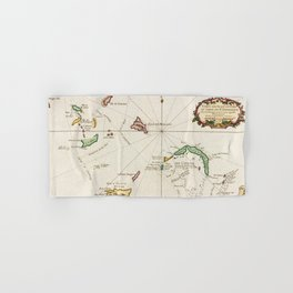Vintage Turks and Caicos Map (1764) Hand & Bath Towel