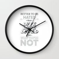 marina and the diamonds Wall Clocks featuring I Am Not A Robot ; Marina and the Diamonds (alternative II) by Wis Marvin