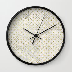 gOld grid Wall Clock