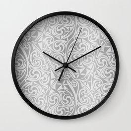 Celtic Warlord silver Wall Clock