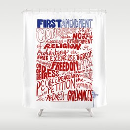 The First Amendment Shower Curtain