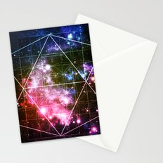 Rainbow Galaxy Sacred Geometry : Golden Rectangles Stationery Cards