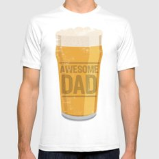 DAD White MEDIUM Mens Fitted Tee