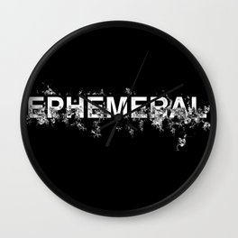 "Word ""Ephemeral"" in a minimal design Wall Clock"