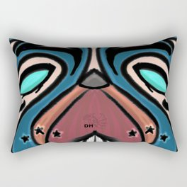 Mad Dog Rectangular Pillow