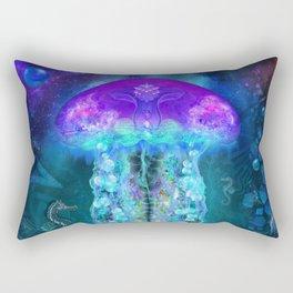 Luminescent Jellyfish Rectangular Pillow