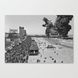 Old Time Godzilla in Atlantic City Canvas Print