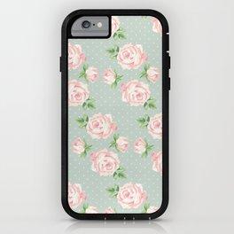 Vintage Roses Pattern iPhone Case