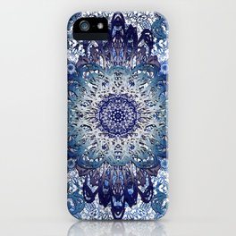 Indigo Lace Mandalas iPhone Case