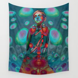 """""""Psychedelic Pop Fantasy"""" (Twiggy) Wall Tapestry"""