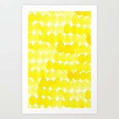 yellow//dots Art Print