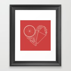 Love Bike (On Red) Framed Art Print