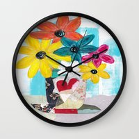 PATCHWORK VASE Wall Clock