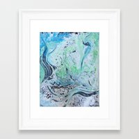 under the sea Framed Art Prints featuring Under Sea by Marnie