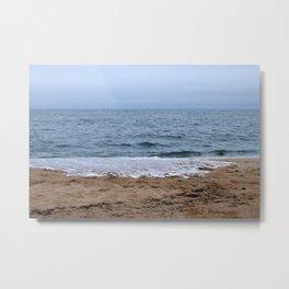 Splash Over Onto The Beach Metal Print