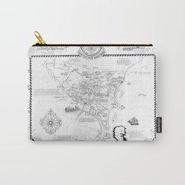 Hampton Historical Map Carry-All Pouch