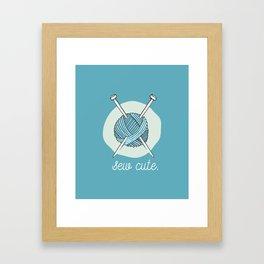 Sew Cute. Framed Art Print