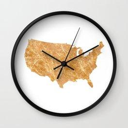 Gold America Wall Clock