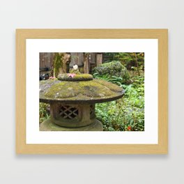 Stone lantern in Mino-o Framed Art Print