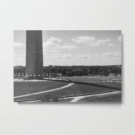 Washington's Shadow Metal Print