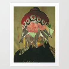 The Vultures stay behind Art Print