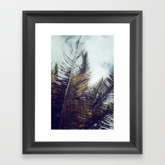 Palm Sky II Framed Art Print