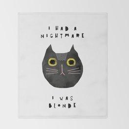 Blonde cat / poster, cat, art print, pictures, scandinavian, nursery, deco, family, art, animal, cat Throw Blanket