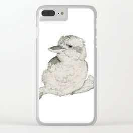 Contended Kookaburra Clear iPhone Case