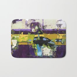 Controversy Prince Deep Purple Abstract Painting Modern Art Bath Mat