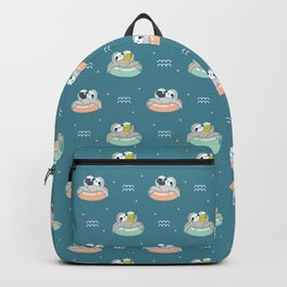 Beer Sloth Pattern Backpack
