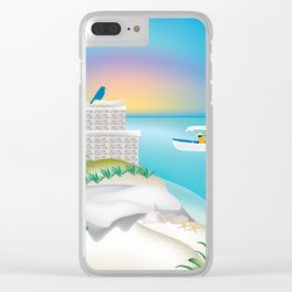 Tulum, Mexico - Skyline Illustration by Loose Petals Clear iPhone Case