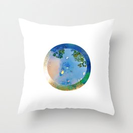 """The World in a Bowl """"Coppers"""" Throw Pillow"""