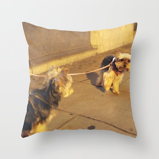 Cute Yorkshire lovers Throw Pillow