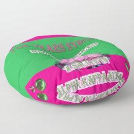 108 Years Strong Blossom Belles - A Salute to Alpha Kappa Alpha Floor Pillow