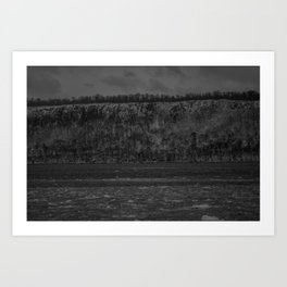 Ice on the Hudson up close Art Print